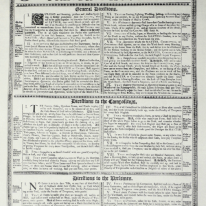 Rules and Directions to be observed in Printing-Houses poster